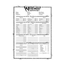 pokemon tabletop character sheet werewolf the apocalypse rpg overview