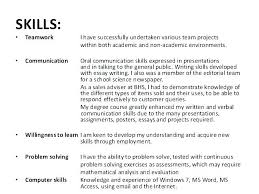 List Of Skills For Employment List Of Skills And Abilities For Resume Emelcotest Com