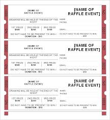 Fundraiser Tickets Template Theredteadetox Co
