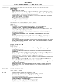 International Buyer Resume Samples Velvet Jobs