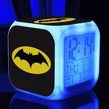 Batman <b>LED</b> alarm <b>clock</b> Cartoon digital Alarm <b>clock Kids</b> Toys wake ...