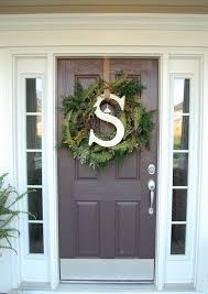 front door monogramLarge Door Wreaths Zampco