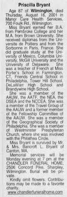 Bryant, Priscilla News-Journal, Sat, Aug 18, 2001 - Newspapers.com