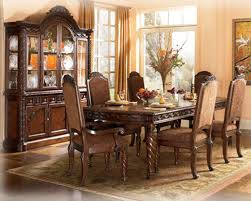 opulent furniture. North Shore Dk Opulent Brown Dining Suite Featuring Decorative Pilasters U0026 Ornate Detailed Appliques Luther Appliance And Furniture N