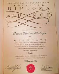 n ballet school advanced diploma of dance darren mcintyre  n ballet school advanced diploma of dance