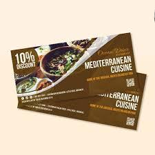 10 Restaurant Food Coupon Templates Illustrator Word