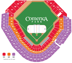 Detroit Tigers Seating Chart Comerica Park Detroit Mi Seating Chart View