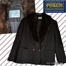 Vintage Pendleton Size Chart L Xxl Rare Vintage Pendleton Fur Wool Pea Coat