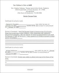Sample Doctor Note Free Documents In Word Printable Excuse