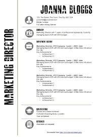 Ms Word Resume Templates 19 Template 18 Creative Black And White CV
