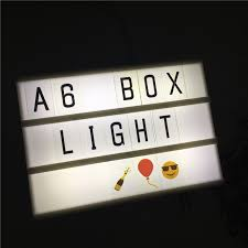 leedome a6 night lamp cinematic light box 3 line power by aa battery or usb cable
