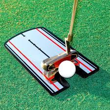 Portable Practice <b>Golf Putting Mirror</b> Alignment <b>Training</b> Aid Swing ...