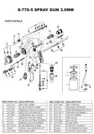 star 770 spray 5 parts diagram