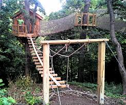 One of the most adventurous tree house projects we've ever done. Included 3   Kids Playhouse PlansTreehouse ...