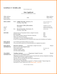Pdf Of Resume And Cv Professional Cv Format In Ms Word Doc Free