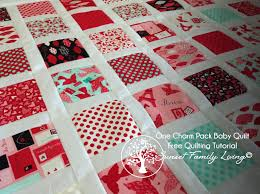 Make a Baby Quilt from One Charm Pack — Free Quilting Tutorial ... & Make a darling baby blanket from just one charm pack -- free quilting  tutorial from Adamdwight.com