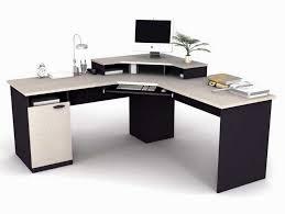 delighful modern white corner desk home office computer felix
