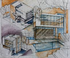 modern architecture sketch. Modern Architecture Austin 326 Downlines Co ~ Sumgun The Best Drawing Exercises For Day Architect Sketch