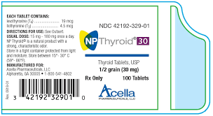 Thyroid Conversion Chart Central Drugs Np Thyroid 30