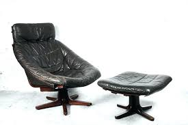 annaldo leather swivel chair ottoman with furniture