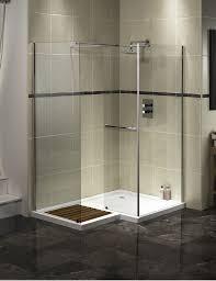 Bathroom:Splendid Walk In Shower Designs Style With Corner Glass Shower  Screen Also Wooden Shower