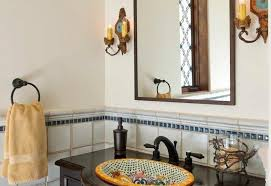 powder room furniture. Spanish Colonial Furniture Powder Room Mediterranean With Old Style Widespread Bathroom Sink Faucets2-