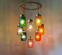 colorful chandelier lighting. colorful chandelier lighting rainbow heart shaped mason jar light rustic hanging pendant fixture tochinawestcom