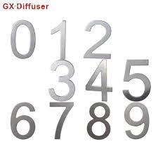 numbers house door number plate home hotel address sign stainless steel apartment doors sticker digits free