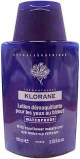klorane wild cornflower eye make up remover