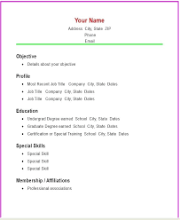 Sample Simple Resume Format Basic Resume Template 70 Free Samples