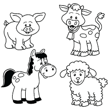 Farmer Coloring Sheet Farm Color Pages For Kids Page Printable Easy