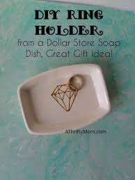 diy ring holder from a dollar soap dish great gift idea