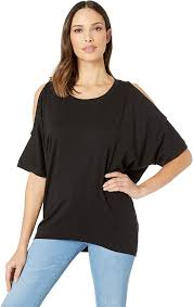 Nally And Millie Size Chart Nally Millie Womens Over Size Cold Shoulder Tunic Black