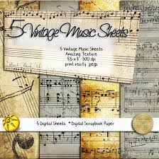 Music Paper Print Vintage Music Paper Collection 5 Printable Digital Sheet Collection