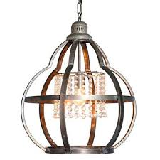 chic hanging lighting ideas lamp. Quatrefoil Cage And Crystals Pendant Light Chic Hanging Lighting Ideas Lamp