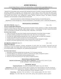 Digital Marketing Resume Marketing Resume Template Free Word Samples