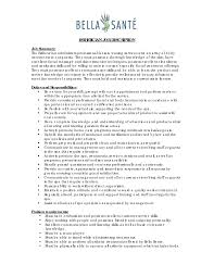 Job Summary Resume Examples Esthetician Resume Sample resume Pinterest Resume examples 86