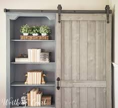 sliding diy barn door hardware for a bookcase worthing court
