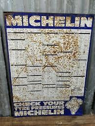 Michelin Automobilia Tyre Pressure Chart Clipboard Cast