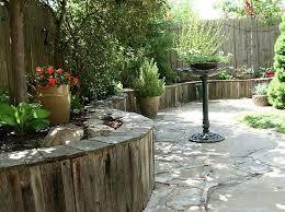 diy garden fence wood retaining wall
