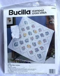 Bucilla *floral* St&ed Cross Stitch Lap Quilt Wall Hanging Kit ... & Bucilla *floral* Stamped Cross Stitch Lap Quilt Wall Hanging Kit #40866 1994 Adamdwight.com