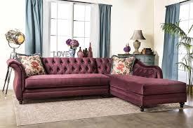 furniture of america 2 piece corinee glamorous sectional sofa