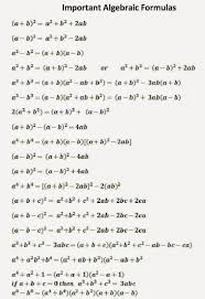 Ssc Adda Algebraic Formulas Part 1 Math Formulas