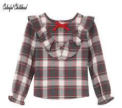 Детский Джемпер осень зима большой Обувь для девочек <b>плед</b> ...