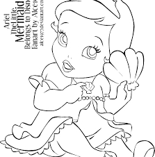 Disney Baby Princess Coloring Pages At Getdrawingscom Free For