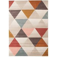 geometric rug pattern. Sale Lima Multi Coloured Triangle Geometric Patterned Modern Rug - Rugs Of Beauty Pattern I