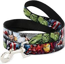 Buckle-Down Dog Leash <b>Marvel Avengers 4 Superhero</b> Poses ...