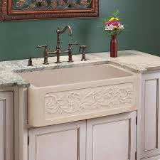 30 polished vine design marble single bowl farmhouse sink polished cream egyptian marble