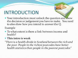 tips for writing good essays the essay structure the essay needs  introduction your introduction must unlock the question and show the decision or judgement you have to