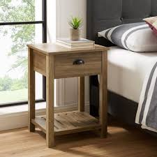 Country Farmhouse <b>Side Table</b> and <b>Nightstand with Storage Drawer</b> ...